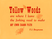 yellow woods broadside
